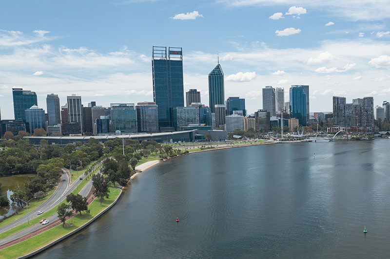 Discover Perth on our Waterbike Tour