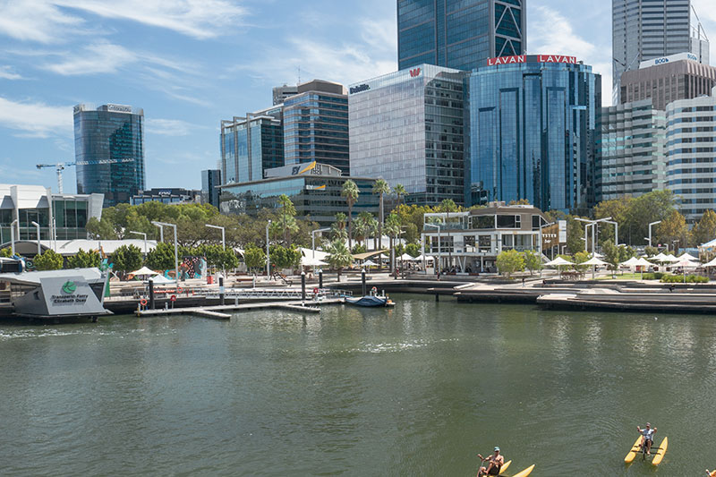 See Perth from the Swan River